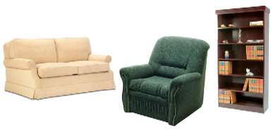 мягкая мебель в домашней студии