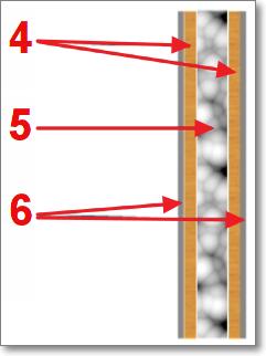 Строение стены для простой вокальной кабины