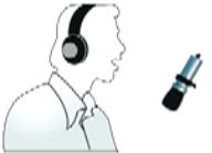 Нижнее положение микрофона при записи голоса