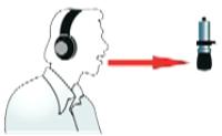 Отдаление микрофона при записи голоса в студии