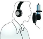 Расположение микрофона при записи вокала на близком расстоянии