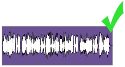 Пример сцелограммы с хорошим уровнем аудио сигнала