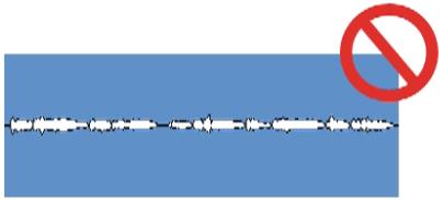 Пример сцелограммы с плохим уровнем звукового сигнала