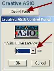 Задаем значение для ASIO Buffer Latency