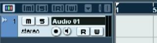 Создание нового трека в Nuendo audio