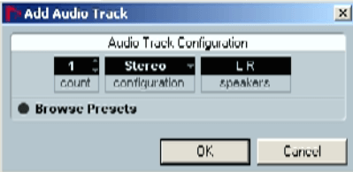 Audio Track Configuration Nuendo