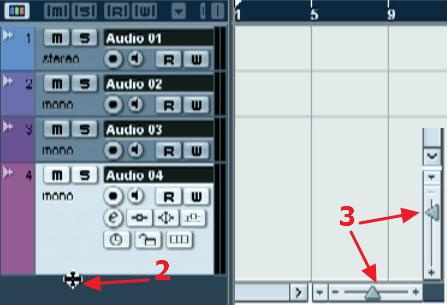 Масштабирование аудио треков в программе нуендо