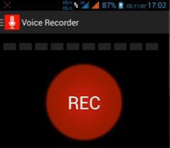 Простая звукозапись на Андроид через Voice Recorder