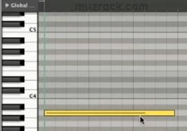 Пианинная таблица в музыкальном редакторе