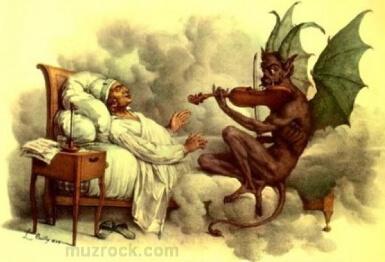 Нота дьявола в звучании музыки heavy metal